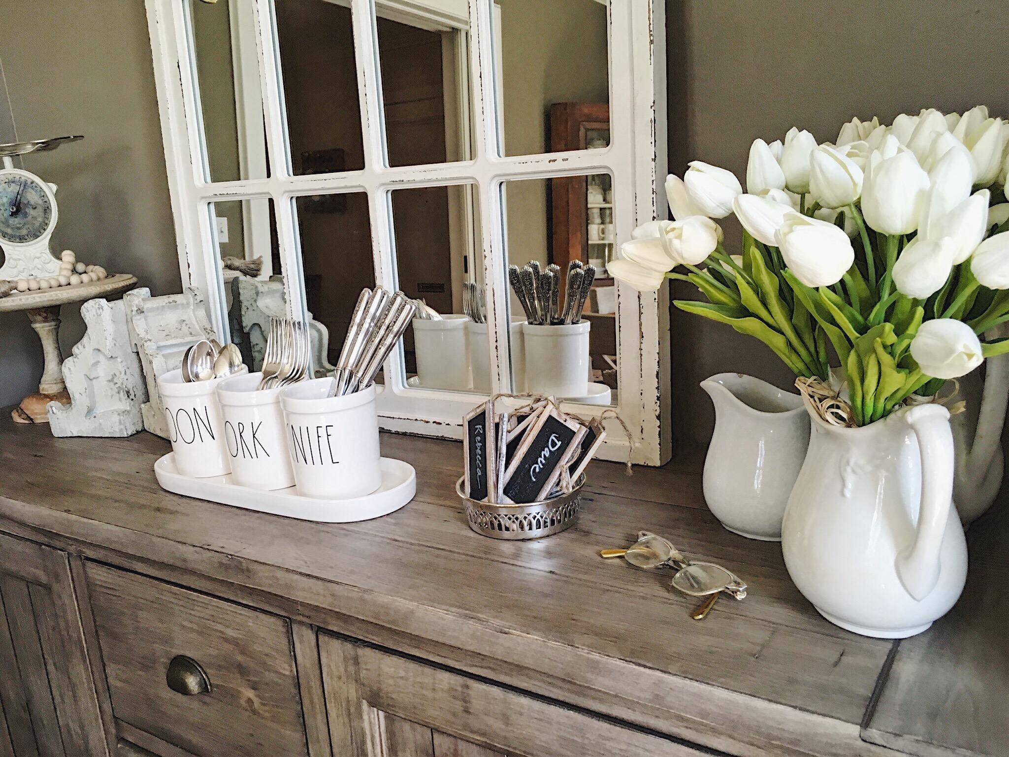 faux tulips rae dunn