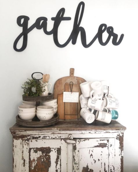 farmhouse gather sign with rae dunn.png