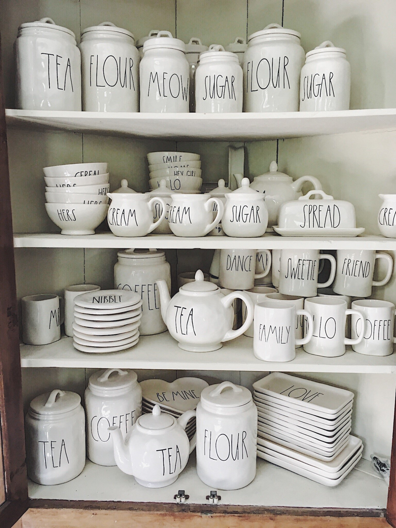 Rae Dunn Pottery Collection.JPG