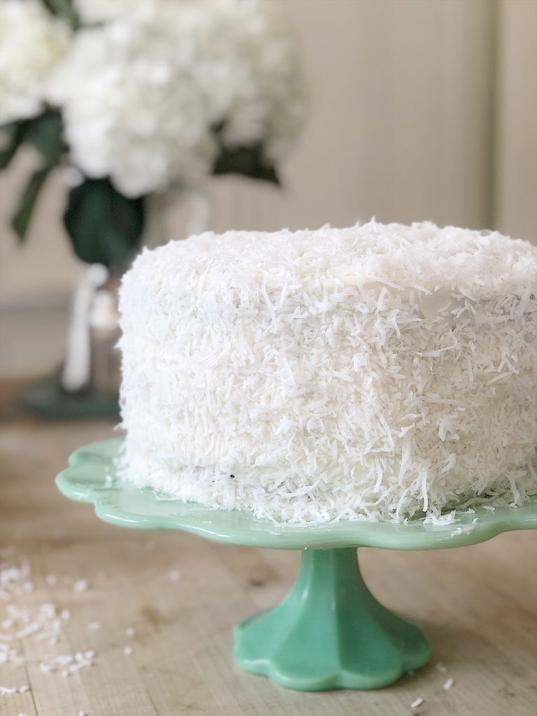 collect cake stands coconut cake