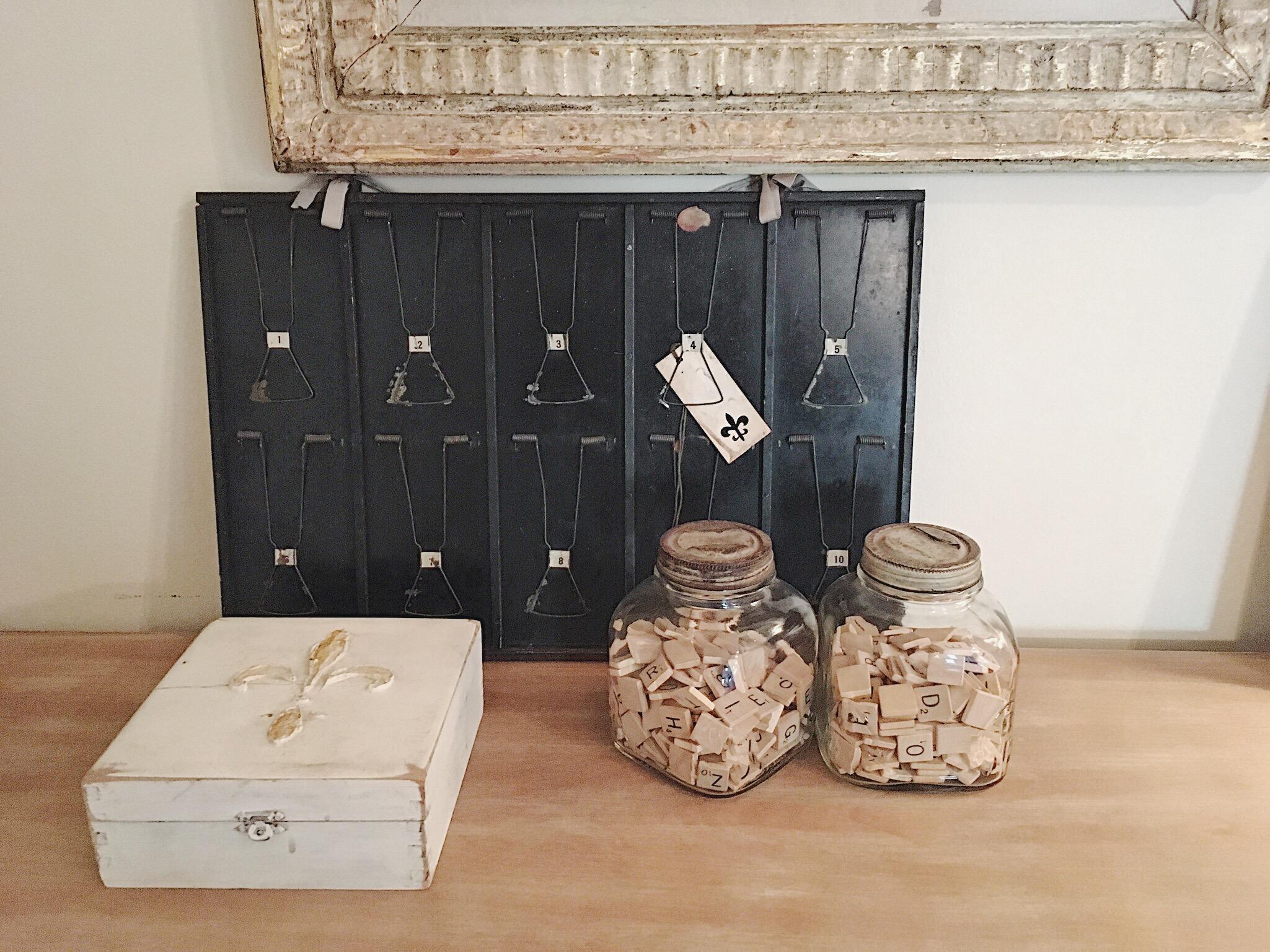 scrabble tiles in jar
