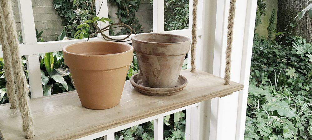 MAKE IT YOURSELF // Aging Terra Cotta Pots