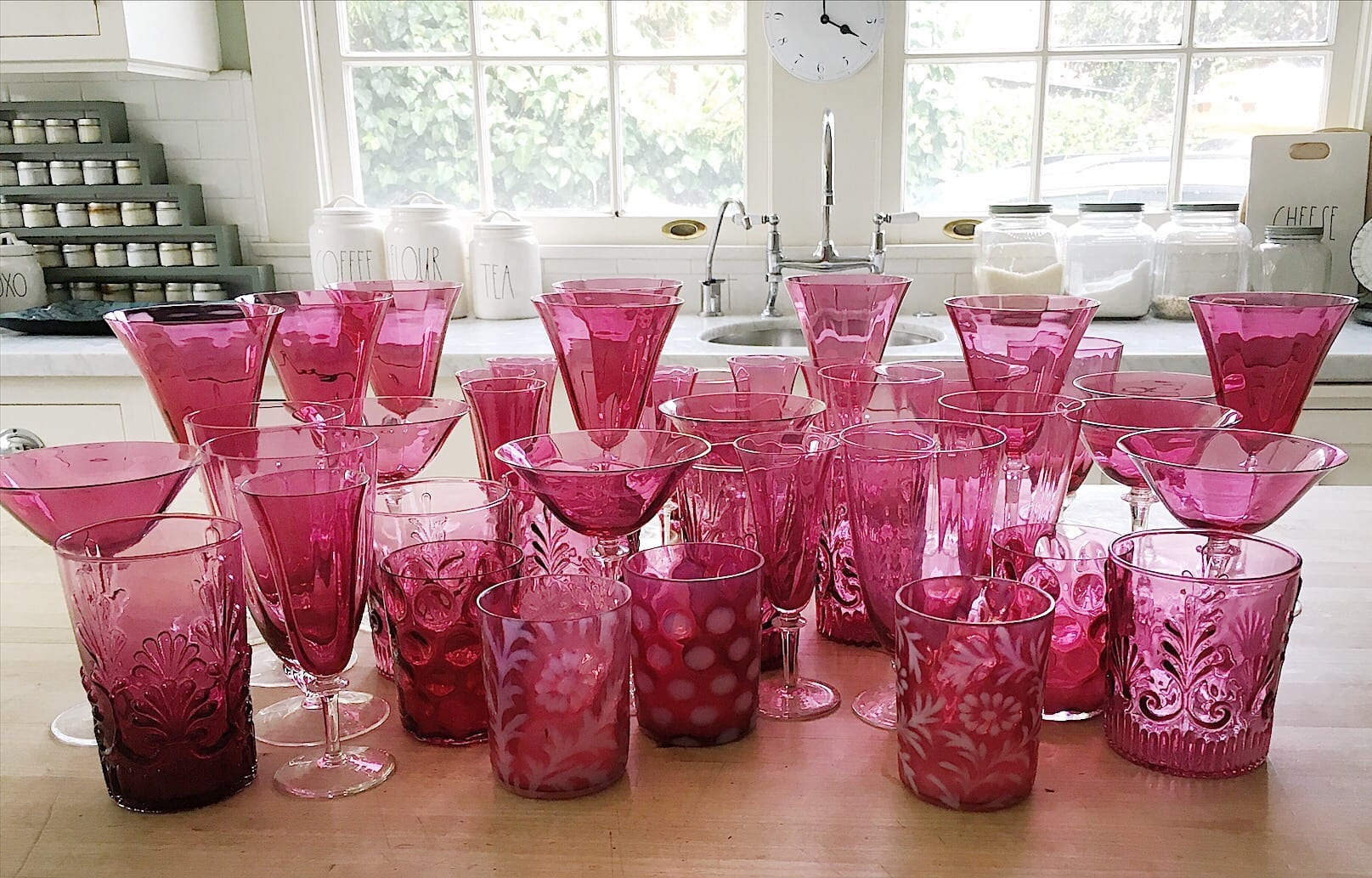 Collecting Cranberry Glass
