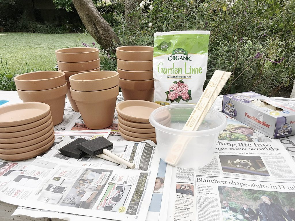 how to make terra cotta pots look old