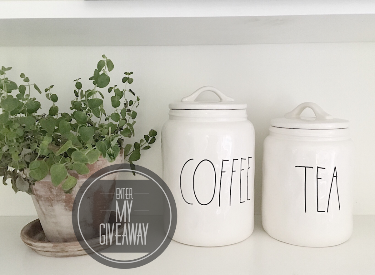 Giveaway Closed Rae Dunn Coffee And Tea Canister My