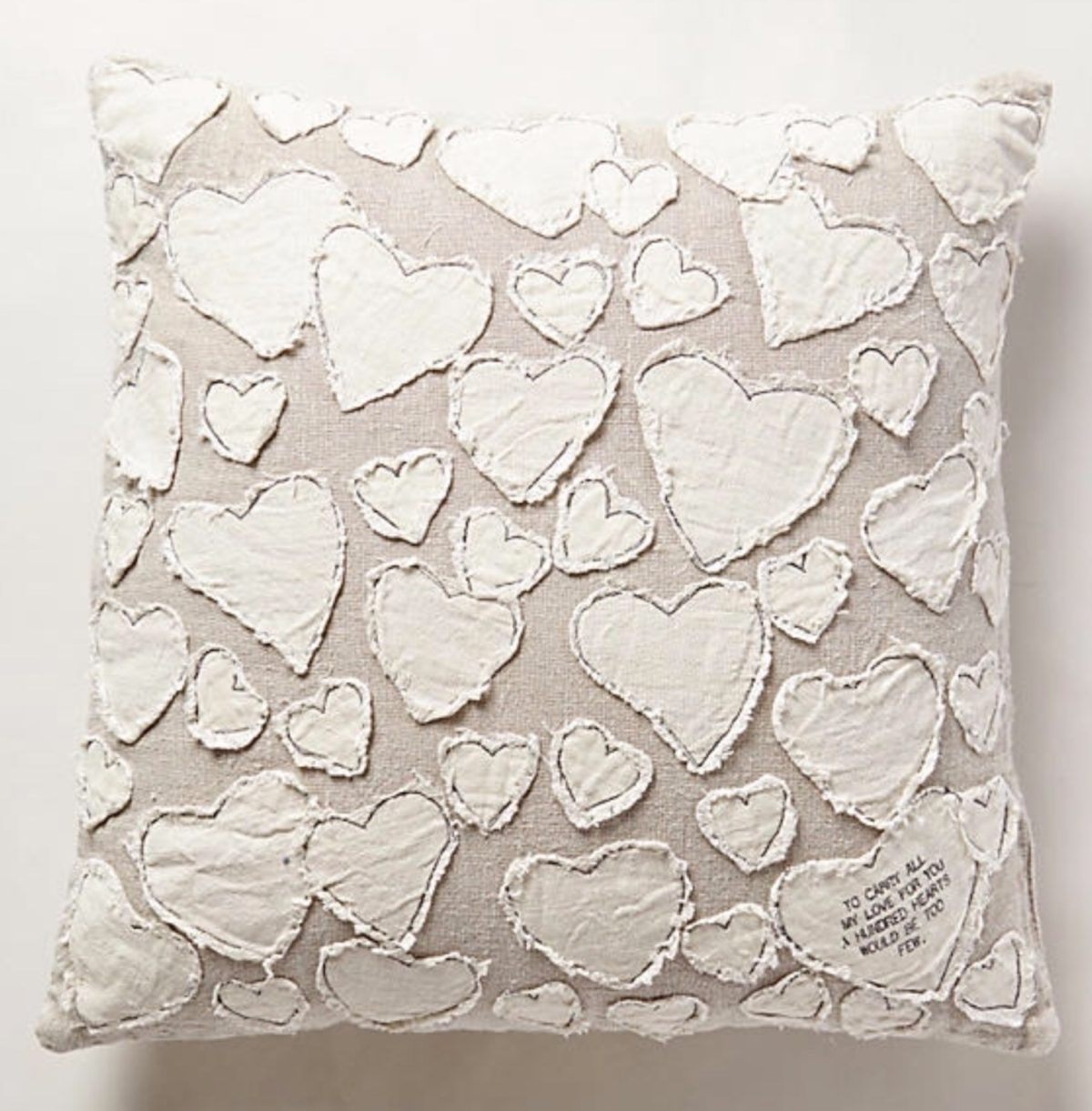 Anthropologie heart pillow