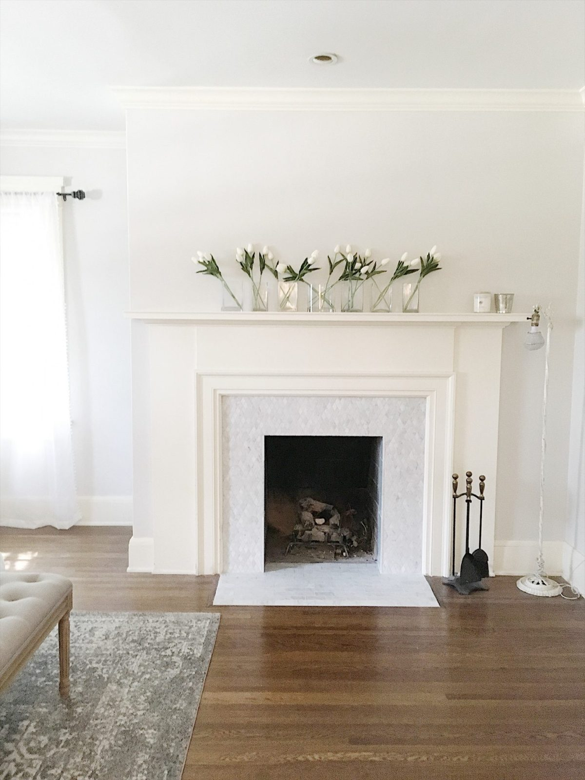 Finishing the Tile on Our Master Bedroom Fireplace - MY 100 ...