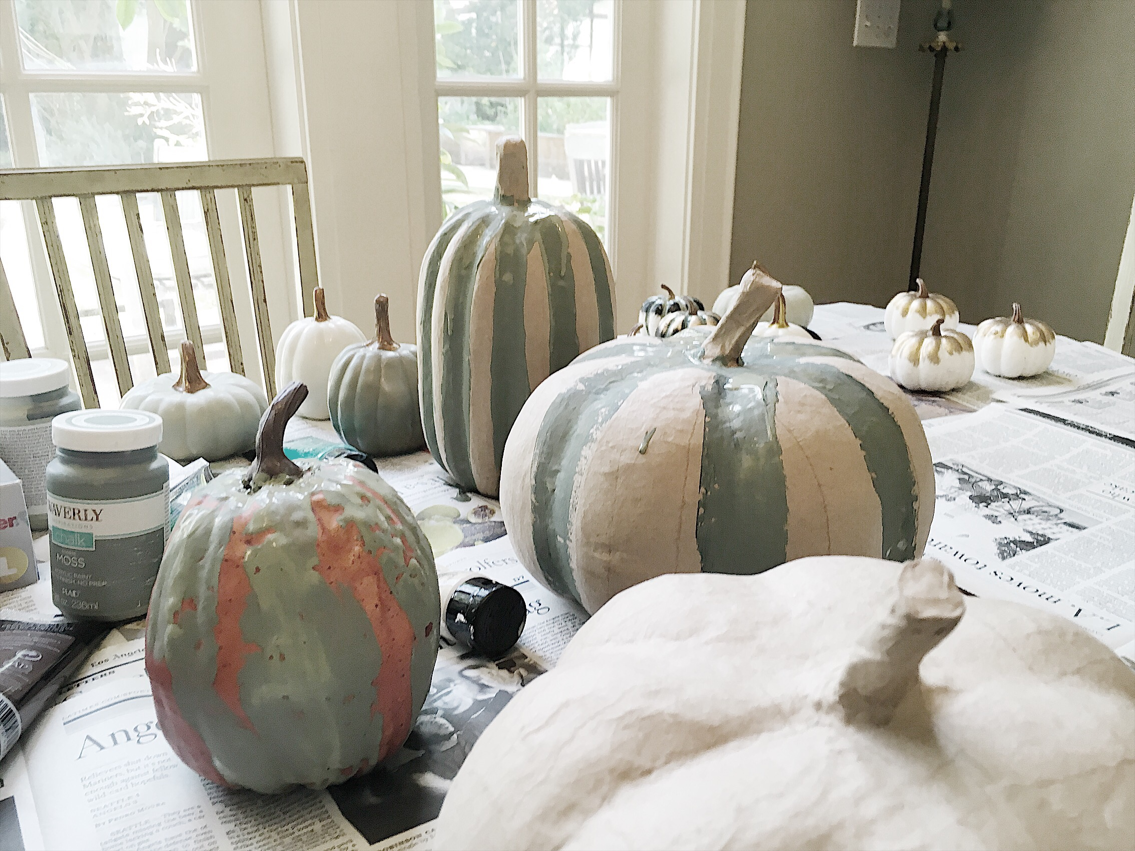 Updating This Years Fall Decor // Painting Pumpkins