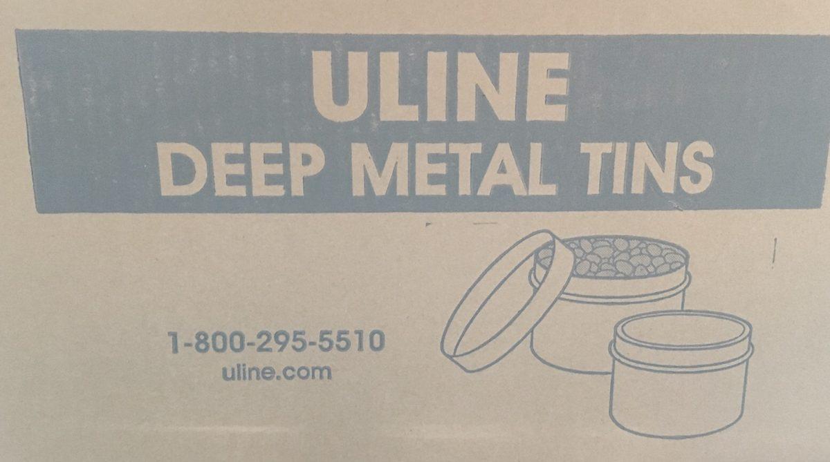 DIY advent calendar metal tins