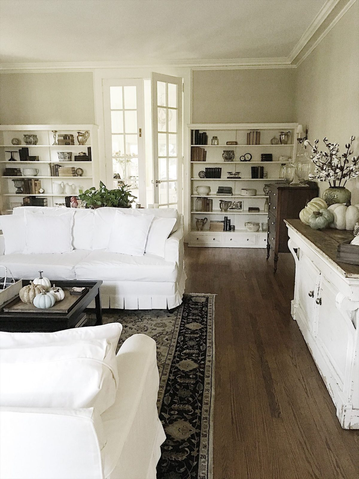 Restyling My Living Room Bookcases - My 100 Year Old Home