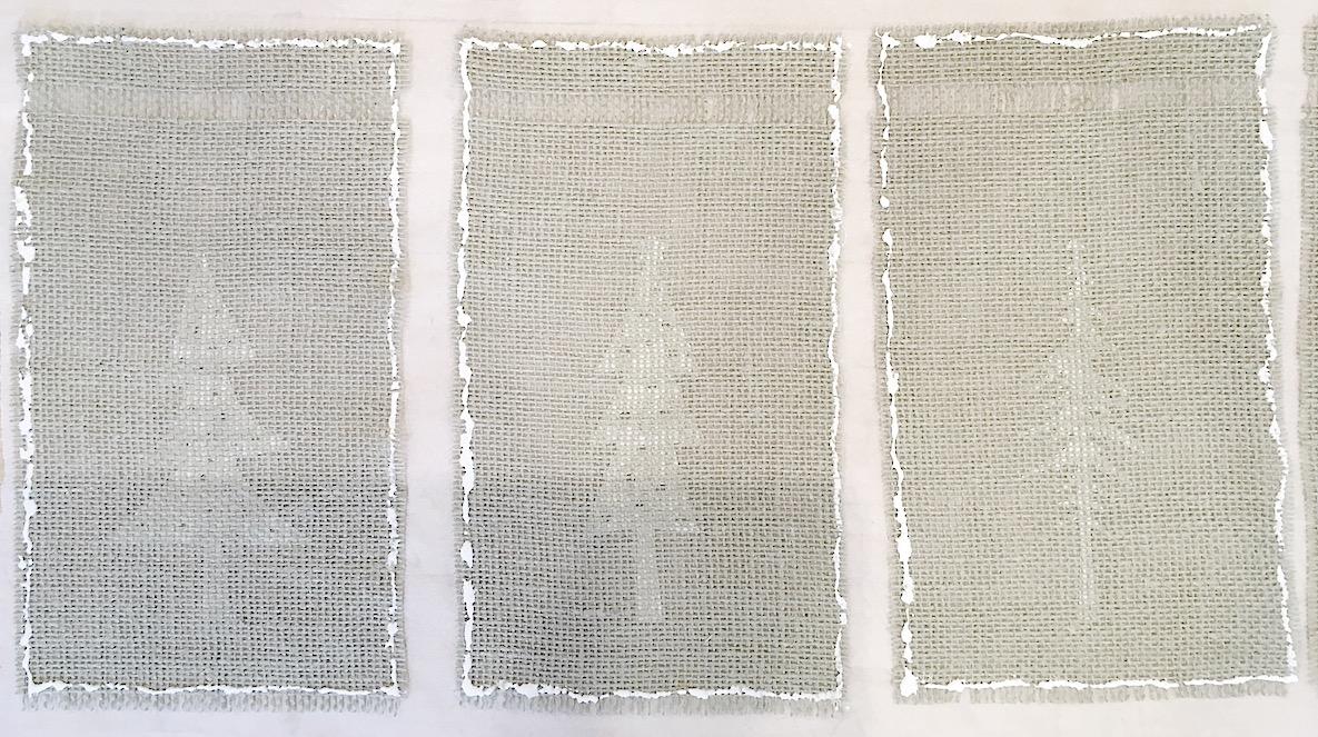Burlap Christmas Tree Garland 10