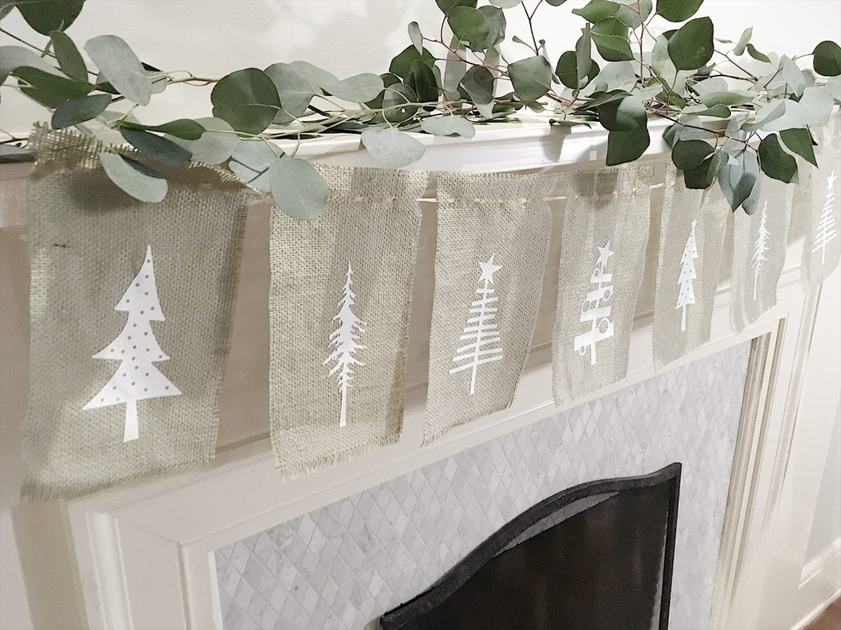Burlap Christmas Tree Garland 13