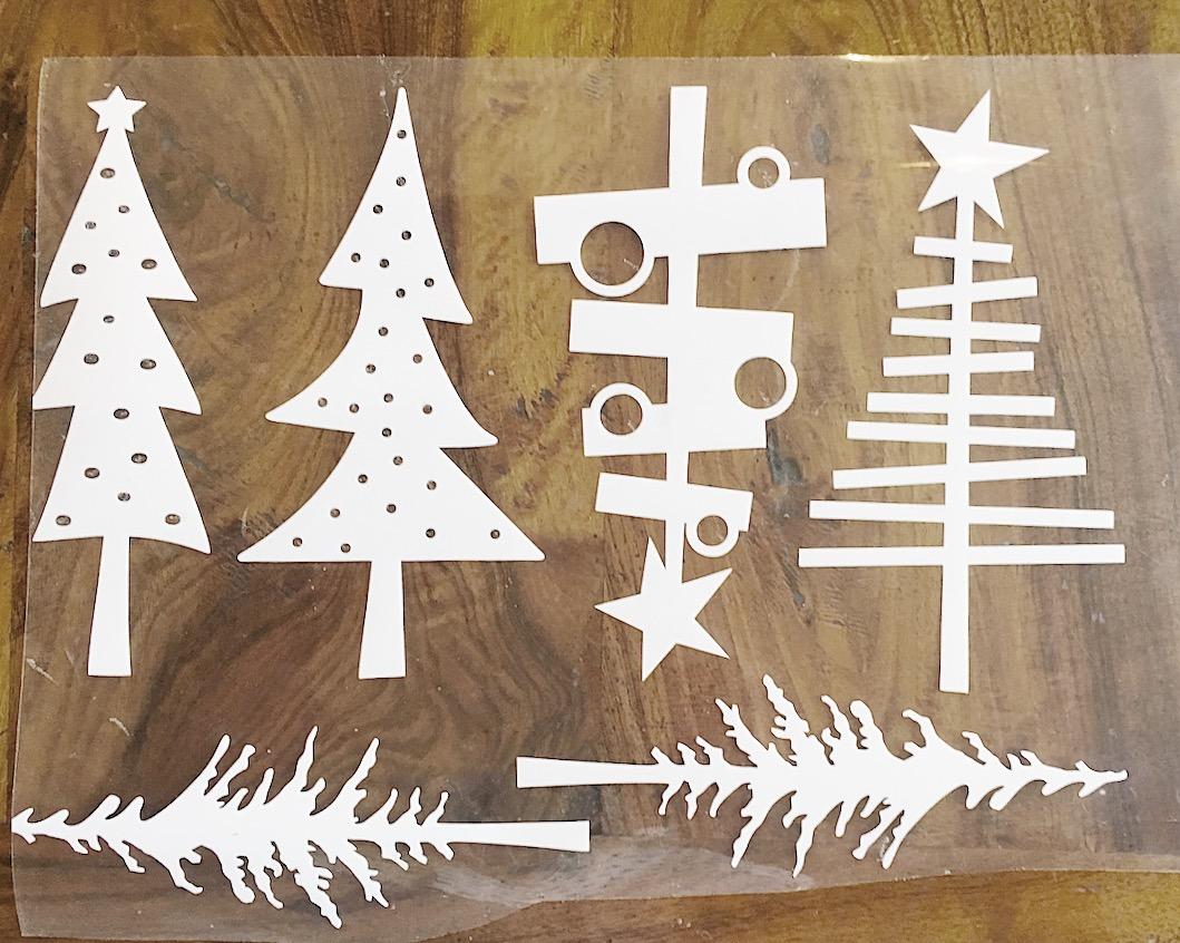 Burlap Christmas Tree Garland 6