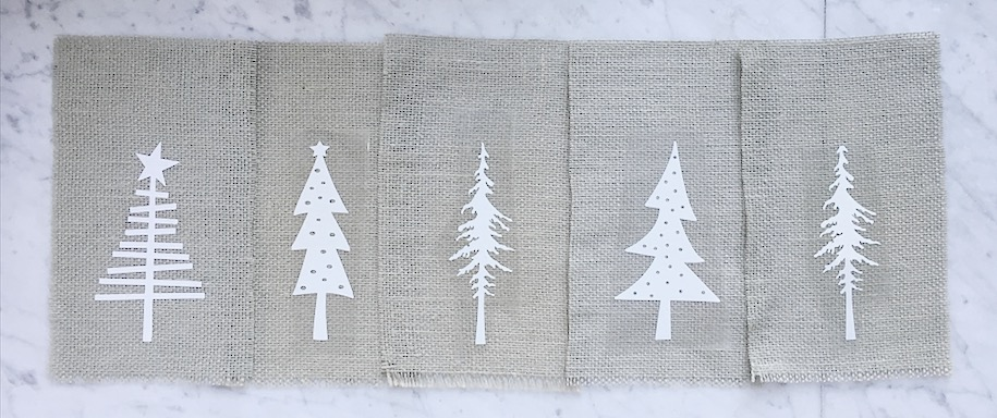 Burlap Christmas Tree Garland 7