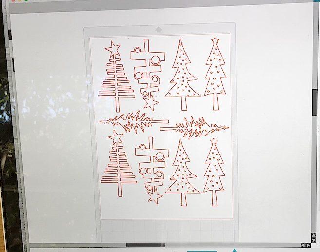 Burlap Christmas Tree Garland designs