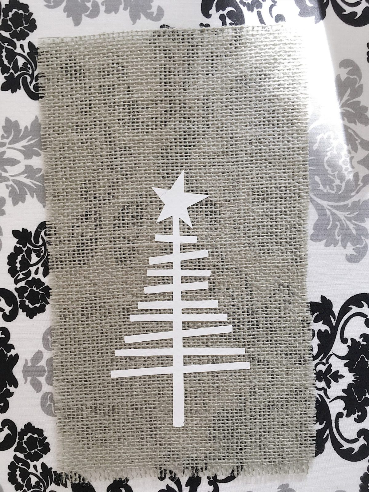 Burlap Christmas Tree Garland8
