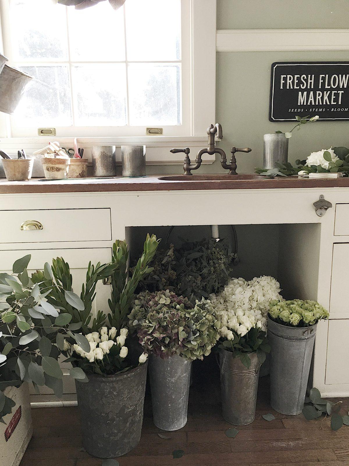 flower arranging room