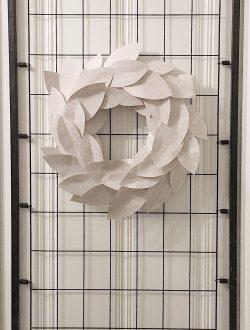 Paper Magnolia Wreath DIY