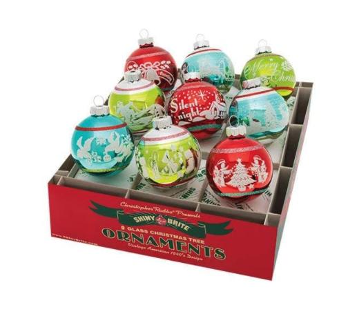 Shiny Brite medium sized ornaments