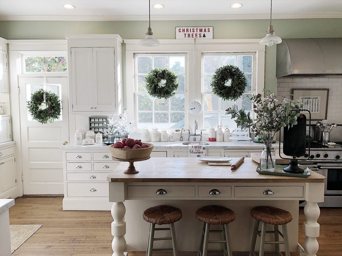 Decorating the Kitchen in Christmas Decor for the Holidays