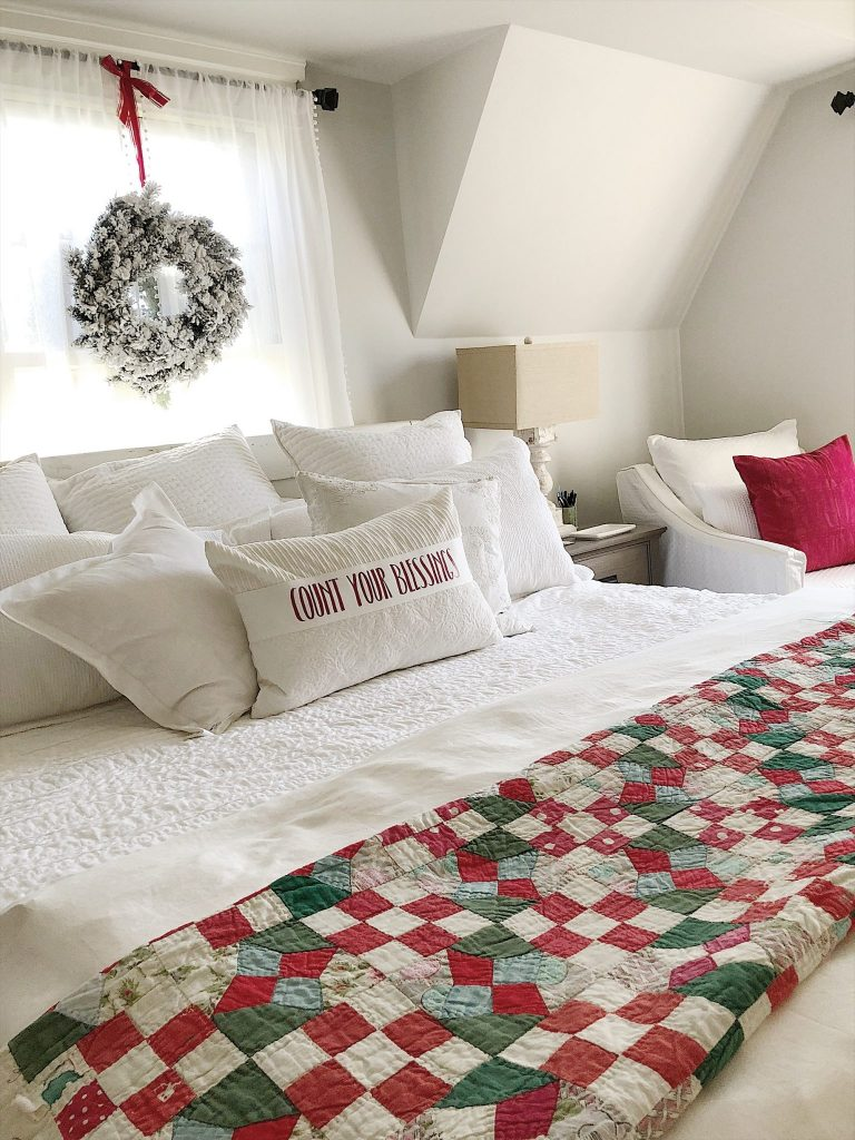 decorating the master bedroom for christmas my 100 year old home. Black Bedroom Furniture Sets. Home Design Ideas
