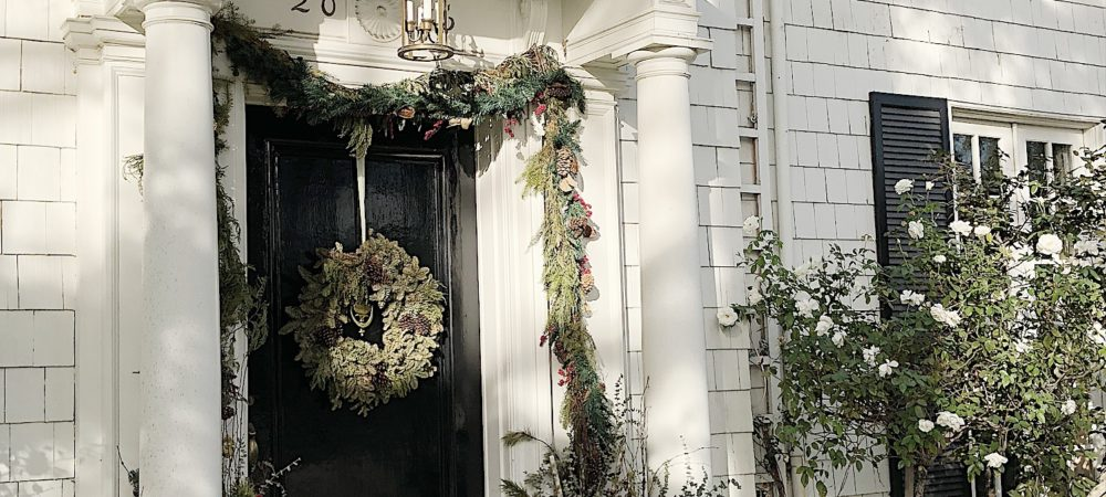 Decorating the Front Porch for the Christmas Holidays