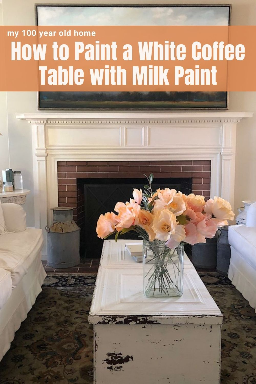 So many of you asked about our white coffee table that I painted with milk paint! I thought it might be fun to share my DIY tutorial.
