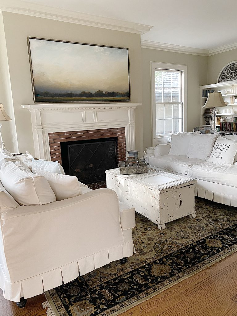 Living room with a neutral palette
