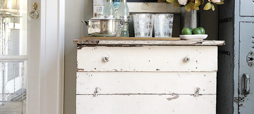 Styling a Farmhouse Bar Cart