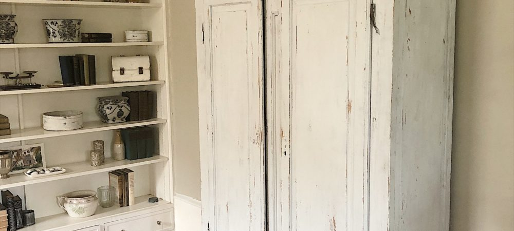 Styling the Vintage Painted Armoire Cabinet