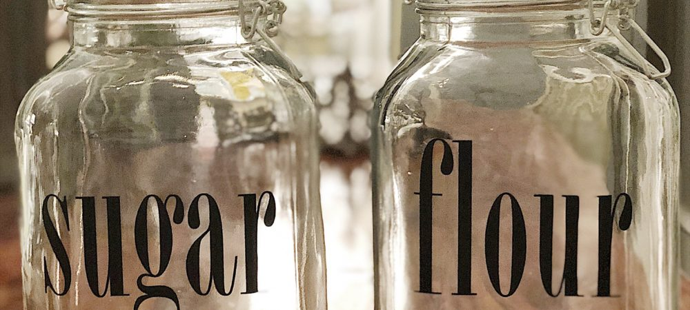 How to Make Pantry Canister Jars with Labels