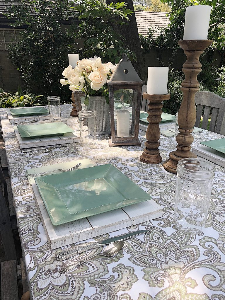 Summer Dining on the Back Porch
