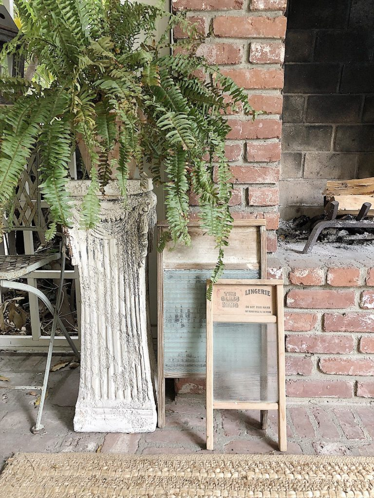 Vintage Items on the Back Porch