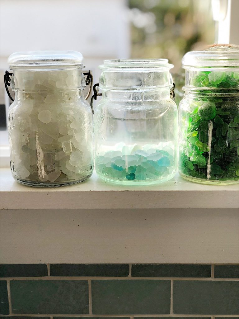 Sea Glass in Jars