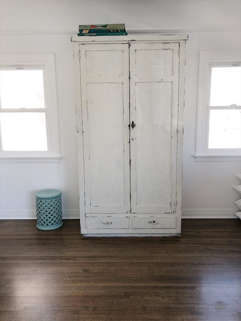 how to paint a wood cabinet with milk paint