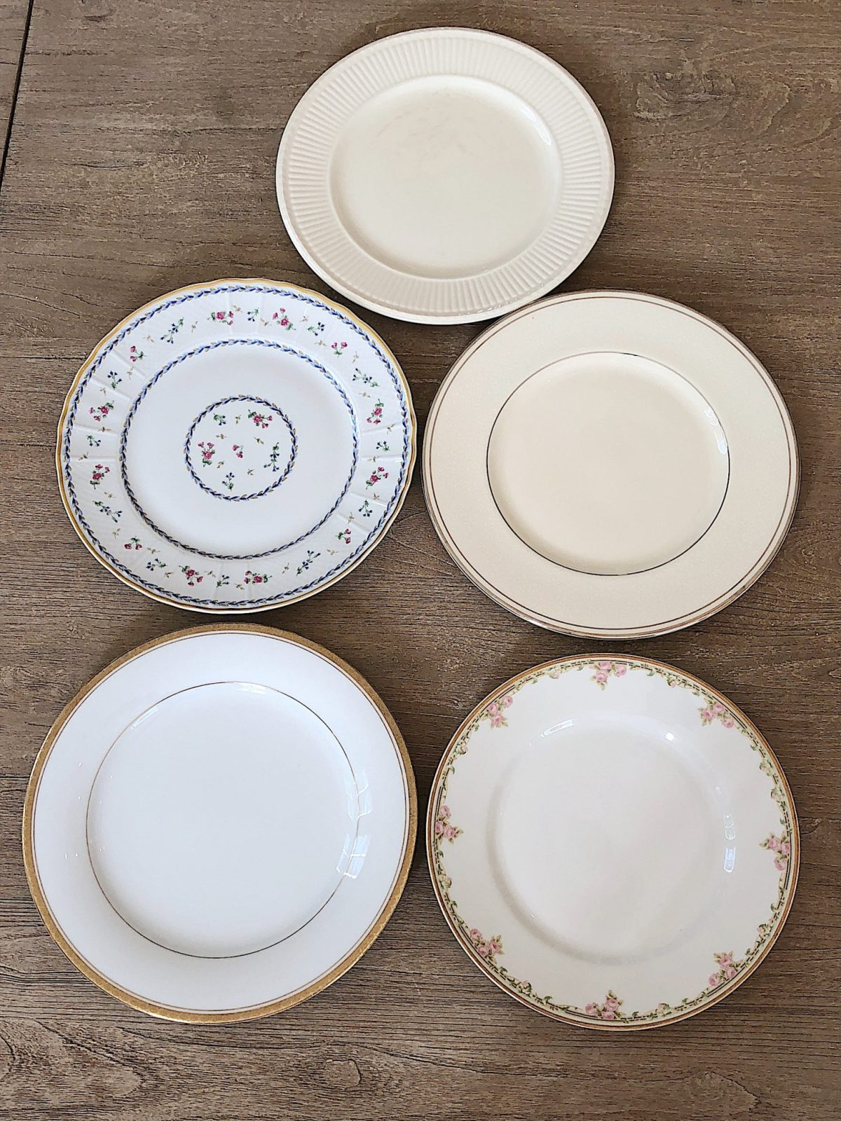 setting the table with china