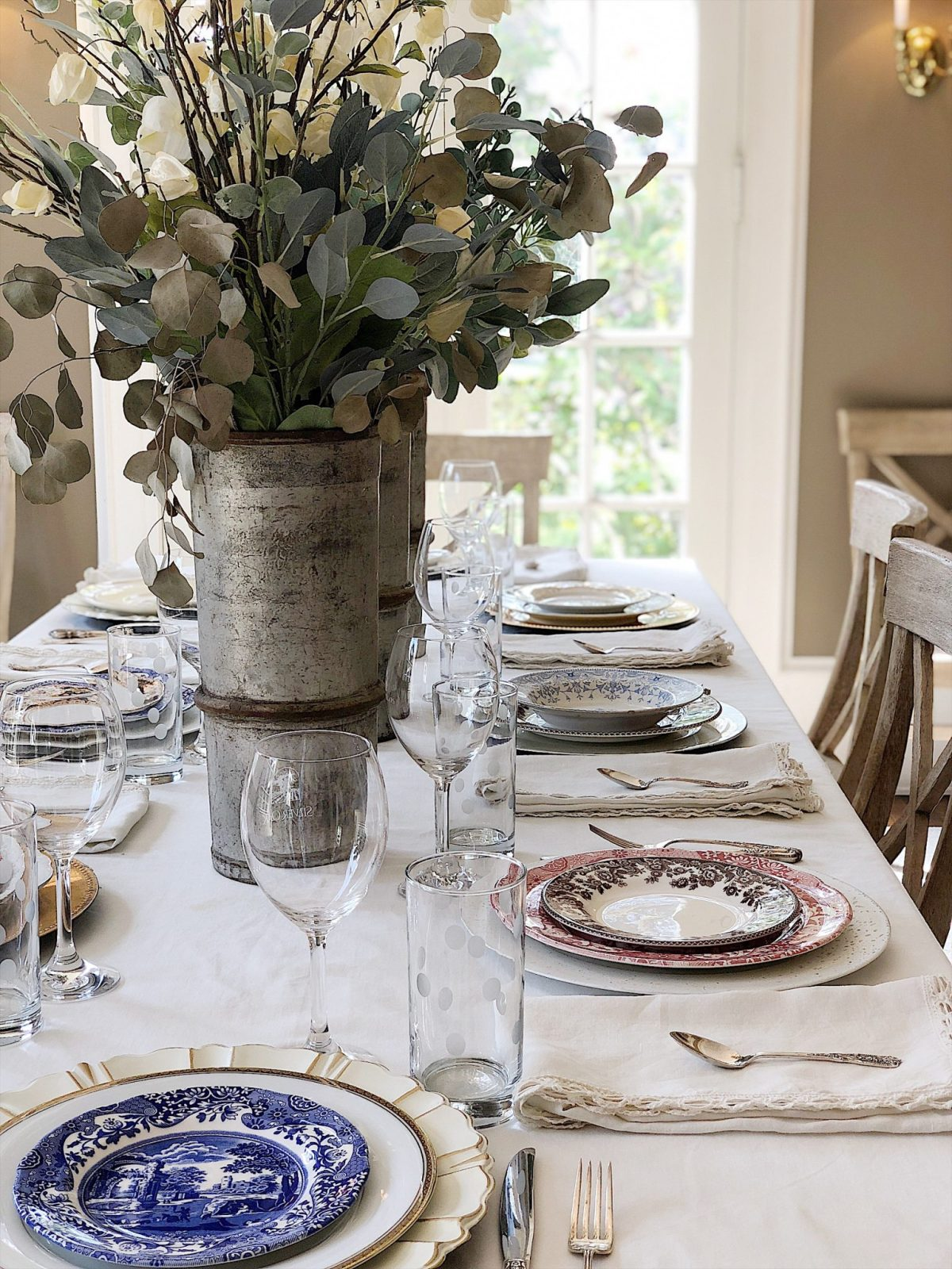 setting the table with fine china