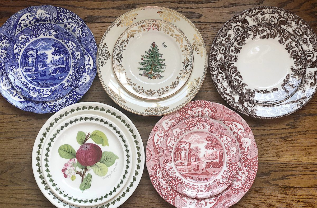 setting the table with Spode