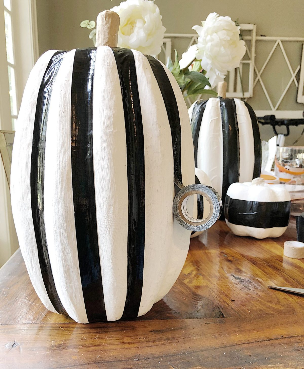 halloween duck tape pumpkins
