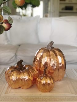 pumpkin crafts - DIY copper leaf