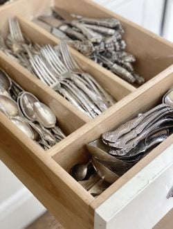 Sterling Silver Flatware Drawer