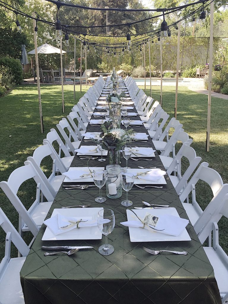 how to set a long table