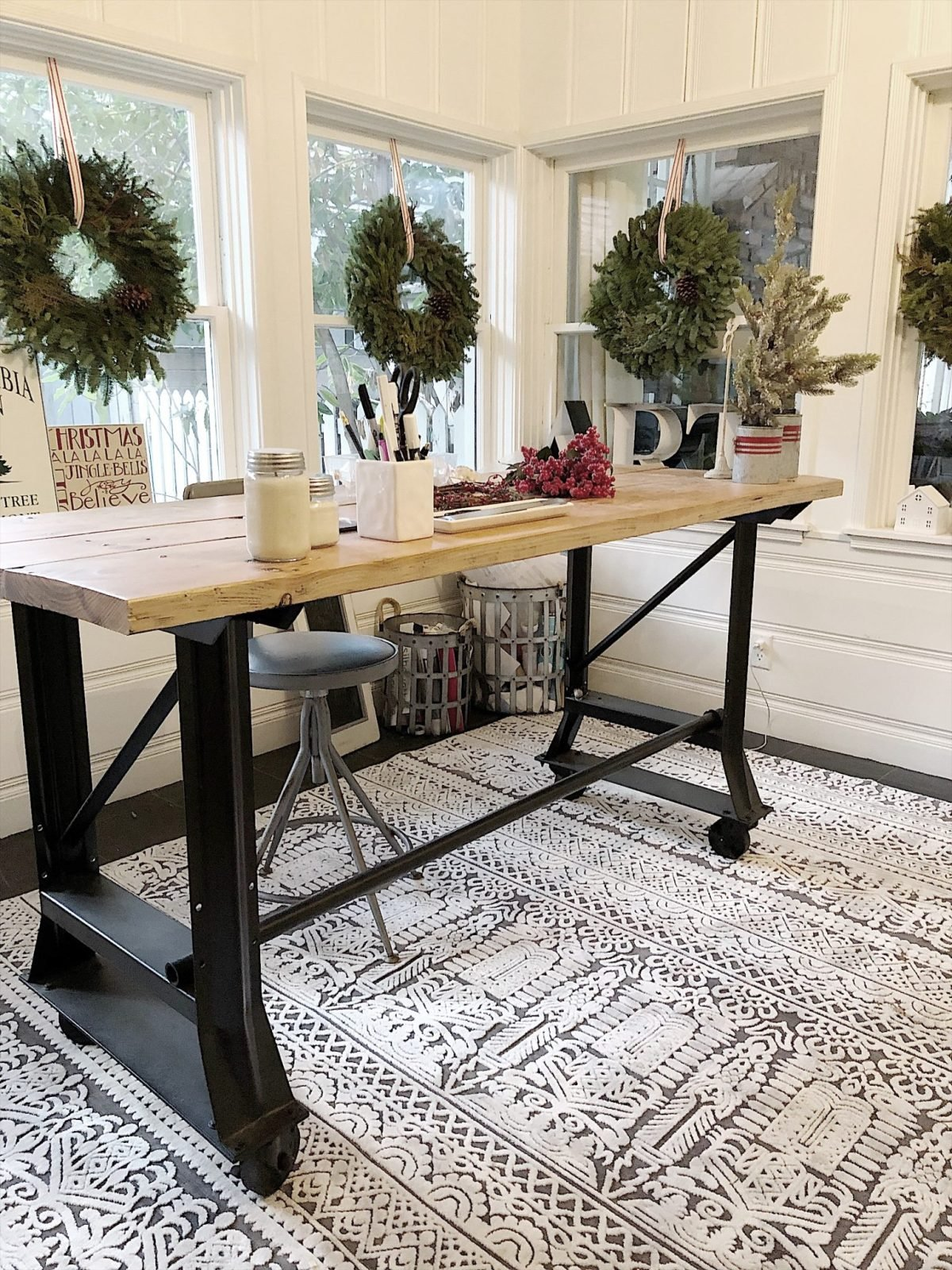 Holiday Housewalk Tour Craft Room Table