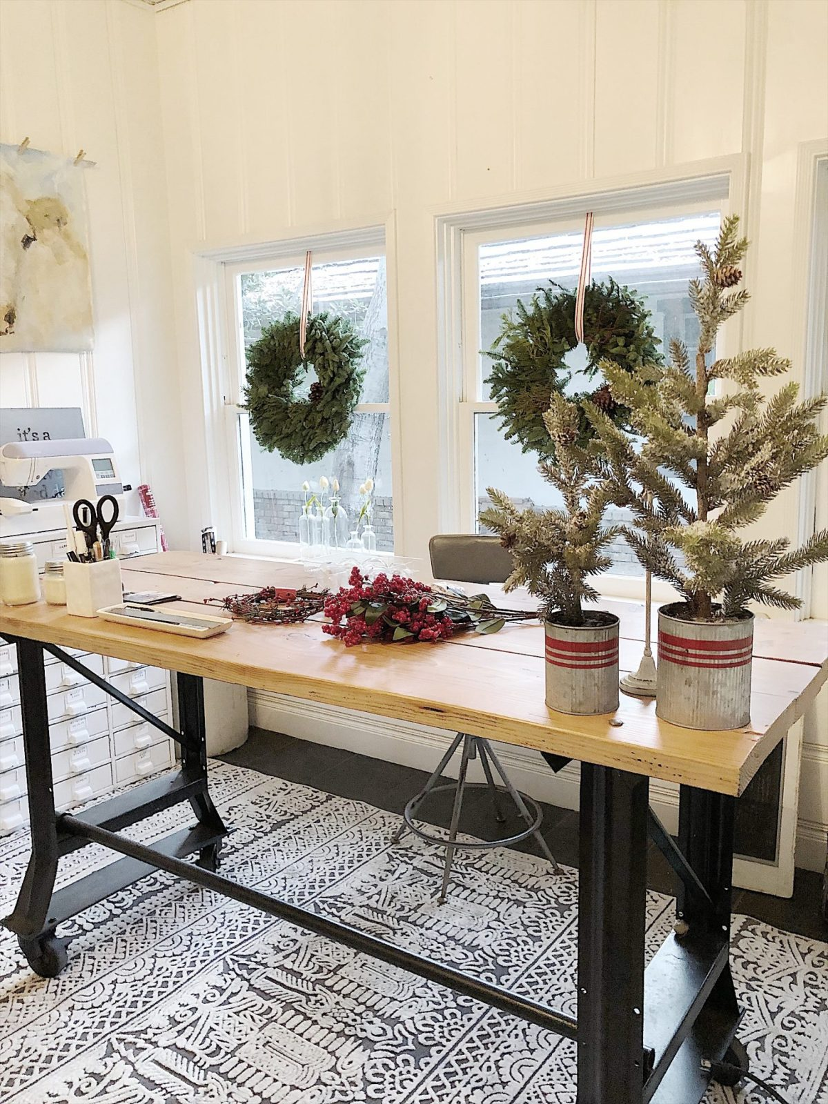 Holiday Housewalk Tour Craft Room projects