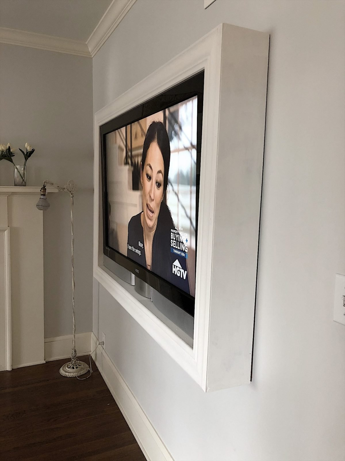 frame your tv on the wall