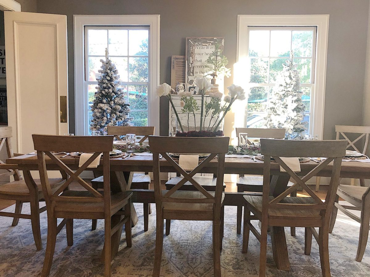 christmas dinner in the dining room