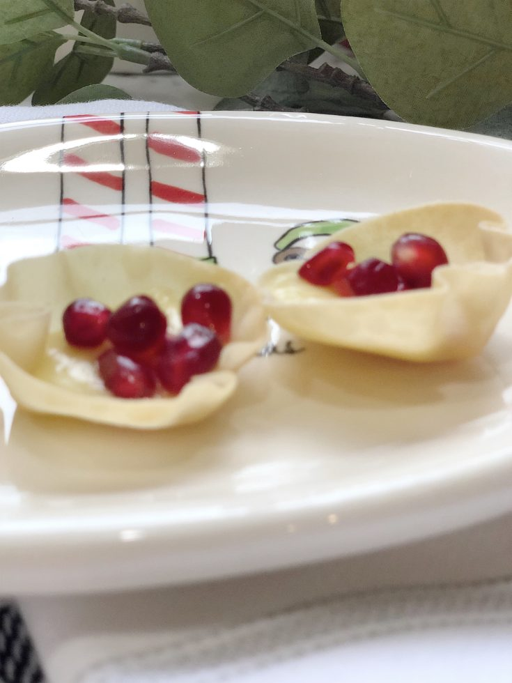 Honey Brie with Pomegranates