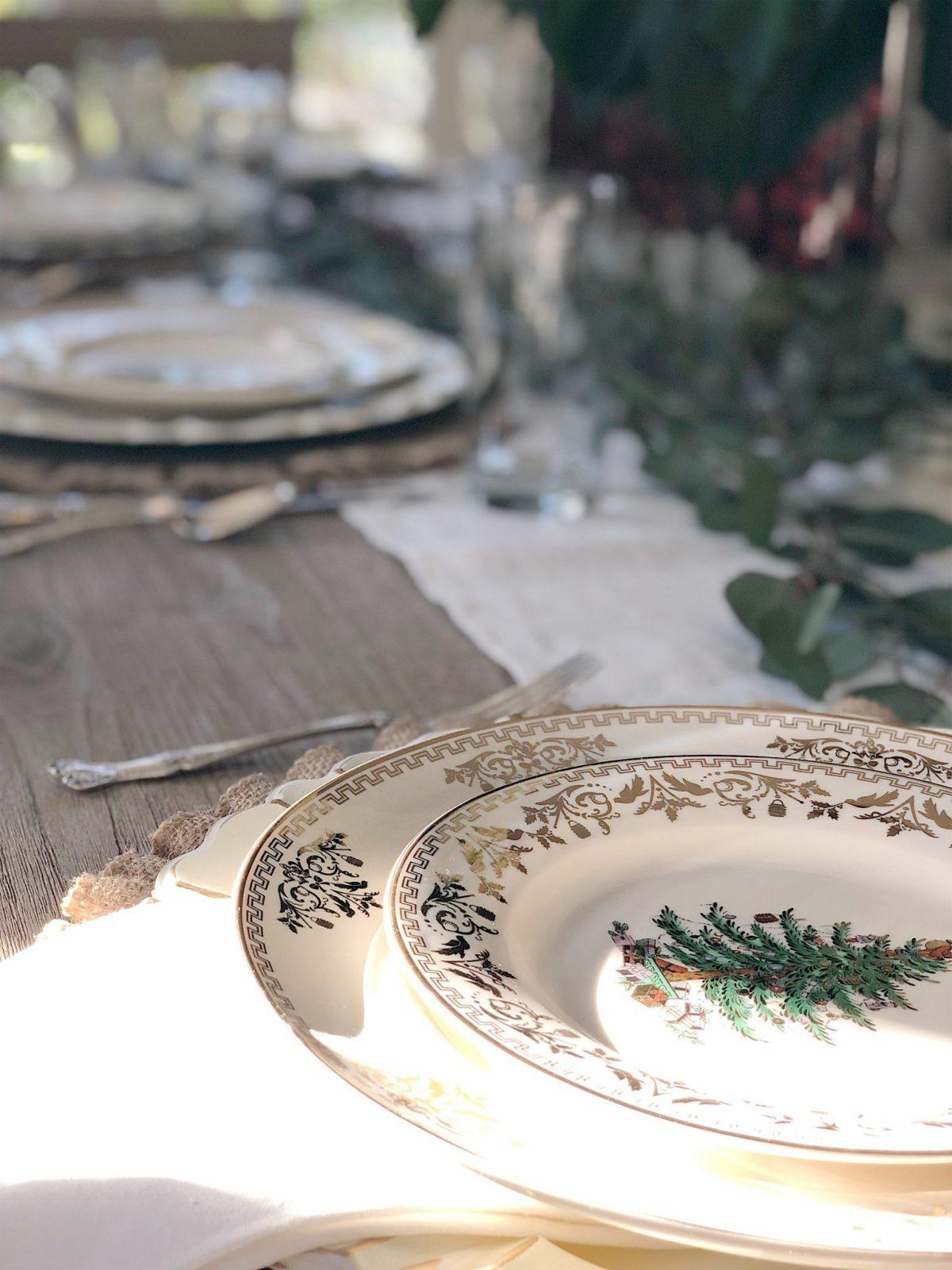 christmas dinner table 2
