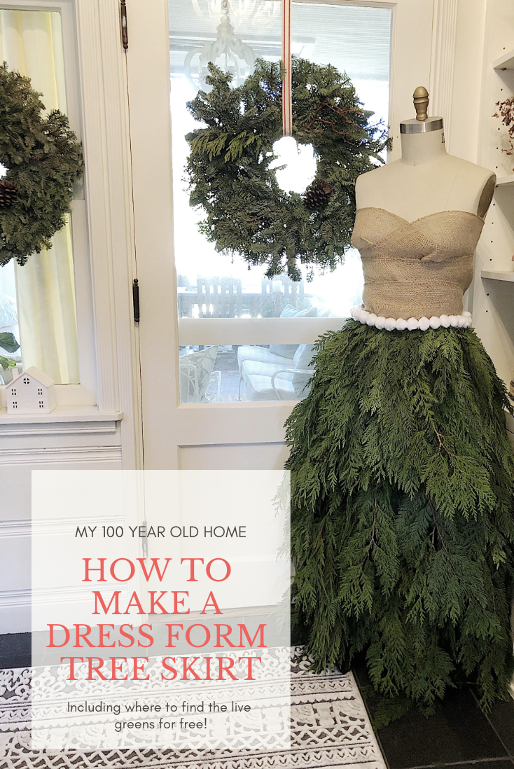 how to make a dress form tree skirt