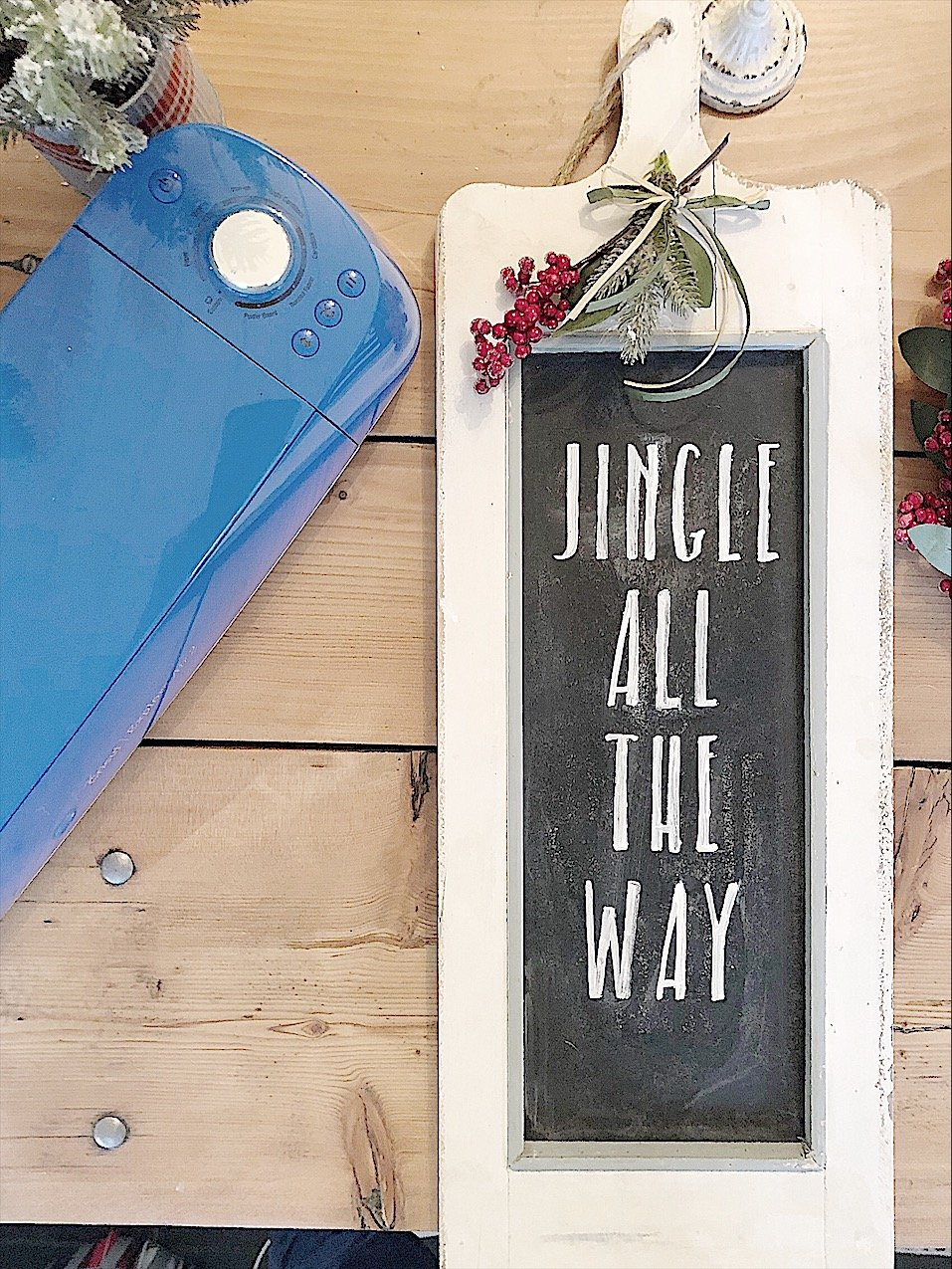 how to make a stencil for christmas